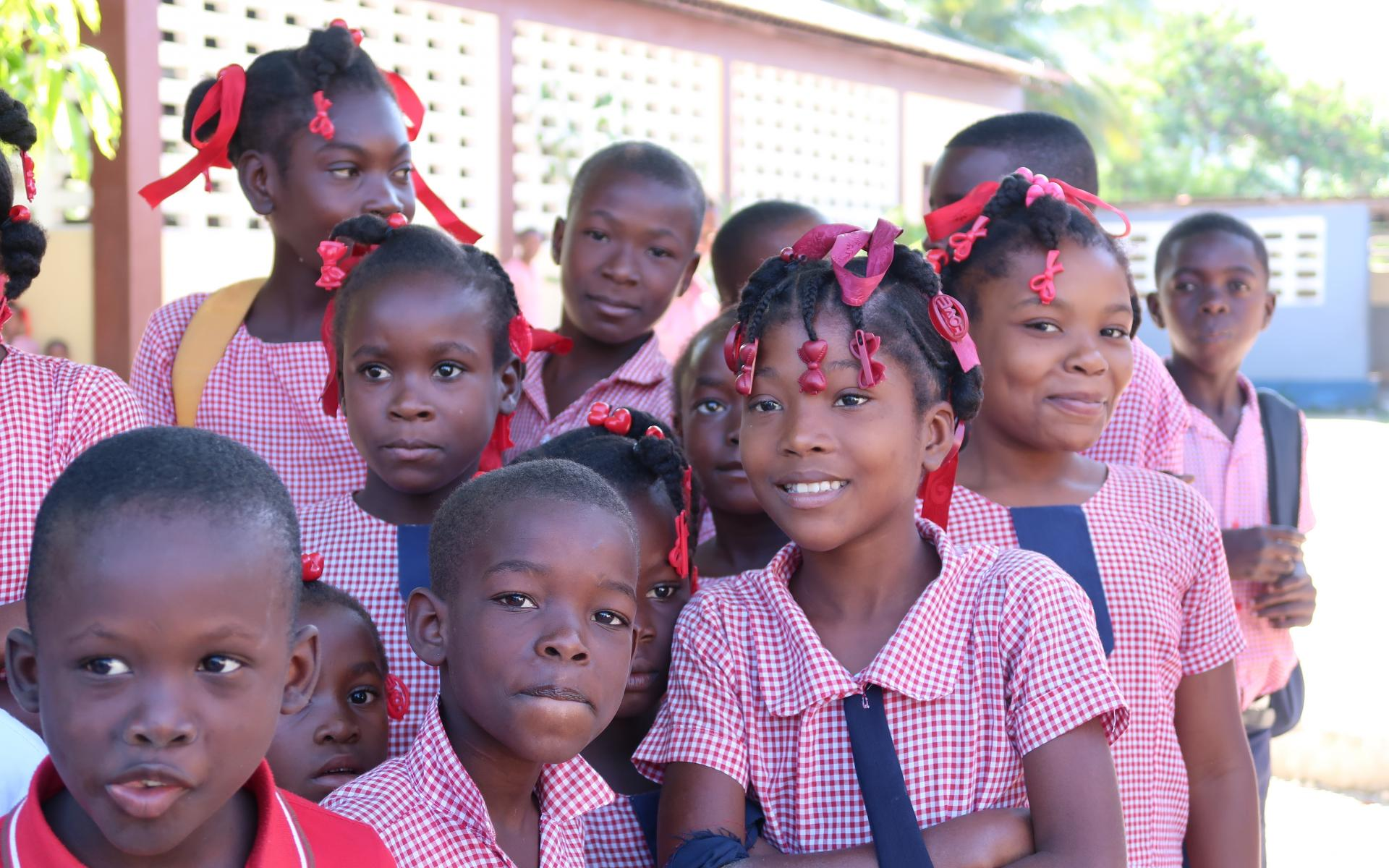 Schulkinder in Haiti